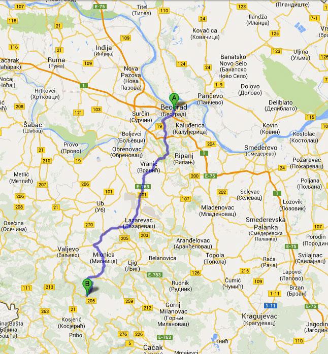 divcibare mapa srbije Kako Doći | Apartmani Repic Divcibare Smestaj divcibare mapa srbije